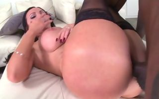 Insane interracial pussy fucking with hot Nikki Benz