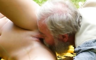 Insane outdoor muff banging with Lovita Fate